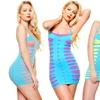 Angelina Seamless Mix-Match Layering Dress, Blue w/ Cutouts