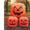 Halloween Lawn Bags Pack Of 3 Orange Jack O Lantern Faces Smiling