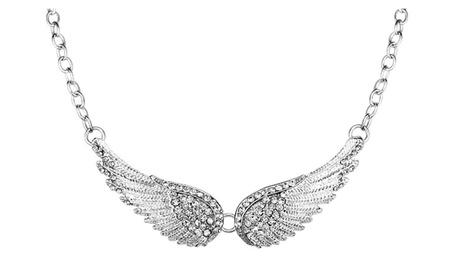 Trendy Angel Wings Choker Rhinestones Pendant Necklaces for Women c7b79eff-b056-4eba-965b-b56b7bcd2d7d