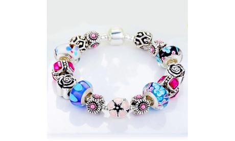 Genuine Murano Glass and Crystal Bracelet Made With Swarovski Crystals