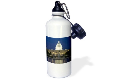 Water Bottle Washington, D.C. Reflection of Capitol Building US09 BJA0045 Jayne photo