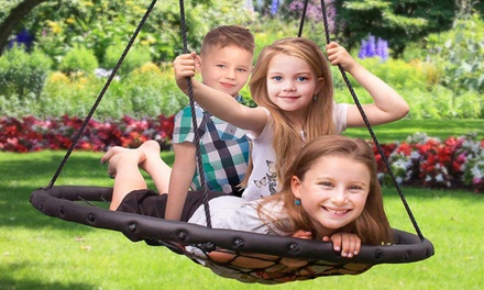 """40"""" Outdoor 220lbs Kids Round Spider Web Platform Net Swing 3 Colors Was: $99 Now: $41.99."""