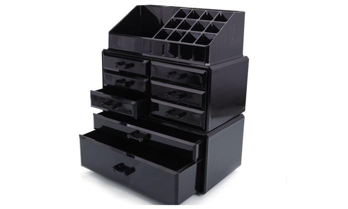 8 Drawers Acrylic Tower Organizer Cosmetic Makeup Jewelry Storage Case