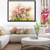 Rose Oil Painting - Floral Art Framed Canvas Print