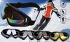 Ski Goggles Winter Snowboard Adjustable UV400 Protective Motorcycle Snow Goggles