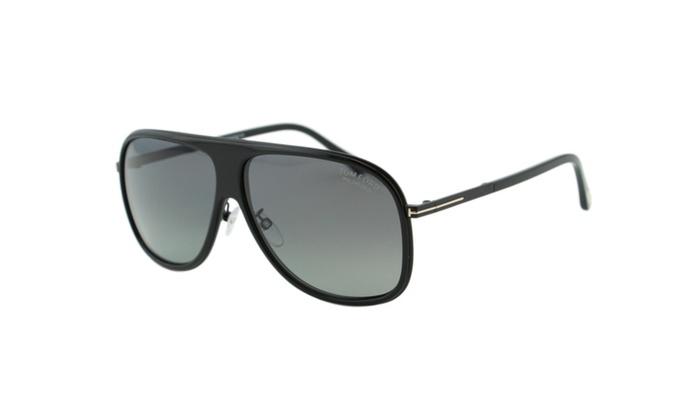 bc5403937519 Tom Ford Chris FT0462-F 01D Men Black Polarized Aviator Sunglasses ...