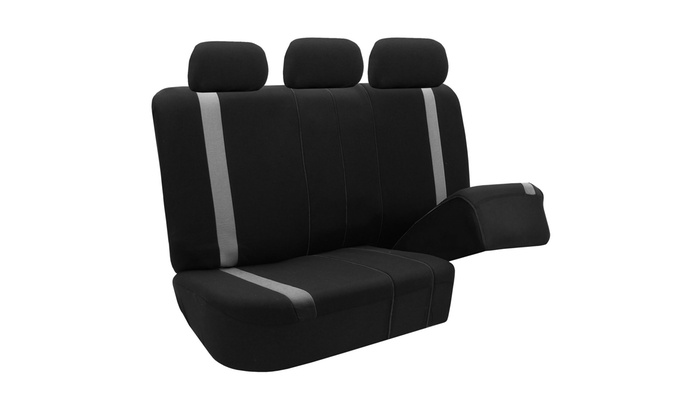 Car Seat Covers for Auto SUV Van Truck 3 Row Gray