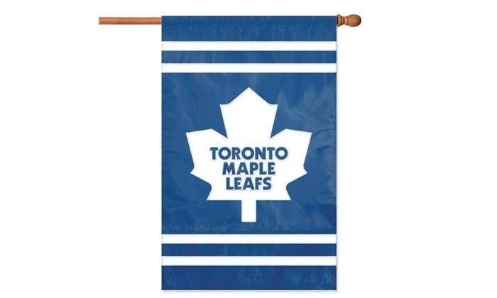 info for f0f3e 92c2a Party Animal Inc. AFMAP Applique Banner Flag - Toronto Maple Leafs
