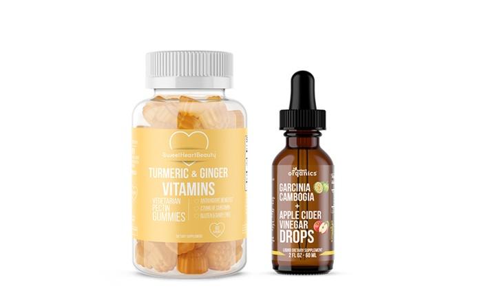 Select Organics Garcinia Cambogia Drops And Turmeric Ginger