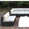Juberri 6 Piece Patio Sofa Set in Cream