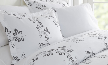 Soft Essentials Premium Ultra Soft 3 Piece Simple Vine Print Duvet
