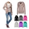 Women's Cotton Zip Pockets Long Sleeve Hoodie Pullover Sweatshirt Top