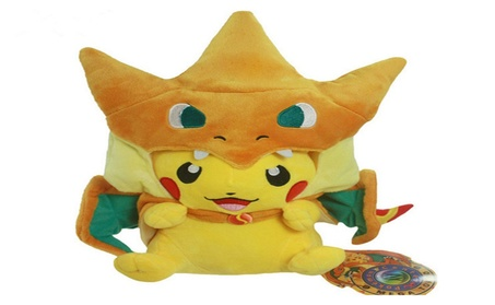 Pikachu Stuffed Dolls Toys Plush Toys Pikachu Cosplay Mega Charizard 3b226283-9799-4882-882b-5eced744b671