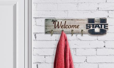 "Fan Creations Team Logo NCAA 24"" x 6"" Welcome Coat Hanger"