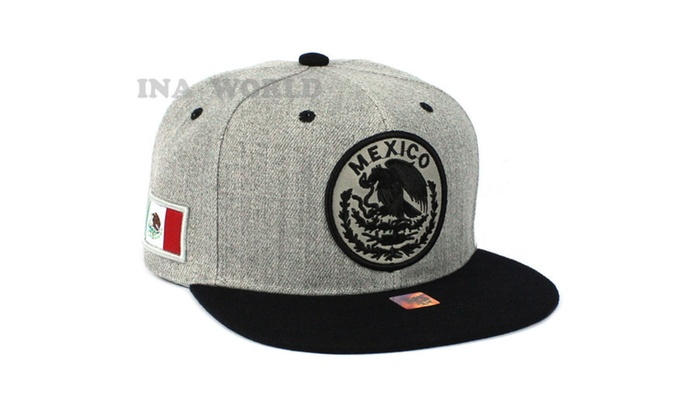 9111ff46548 ... MEXICAN Hat Federal Logo Embroidered Baseball Cap Flat Bill ...