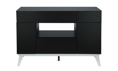 Colston Black Center Shelf Buffet Table c6859ab1-eda4-4c18-bdd8-57e1d1b3058e