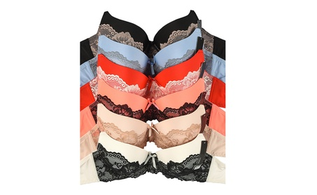 Ladies Full Cup Half Lace Bra 6 Piece Color Variety Set 2e9749f3-d005-46a9-adc6-0ba1528ce56d