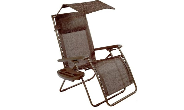 Prime Bliss Hammocks Deluxe Xl Gravity Free Recliner With Canopy Tray Brown Jacquard Squirreltailoven Fun Painted Chair Ideas Images Squirreltailovenorg