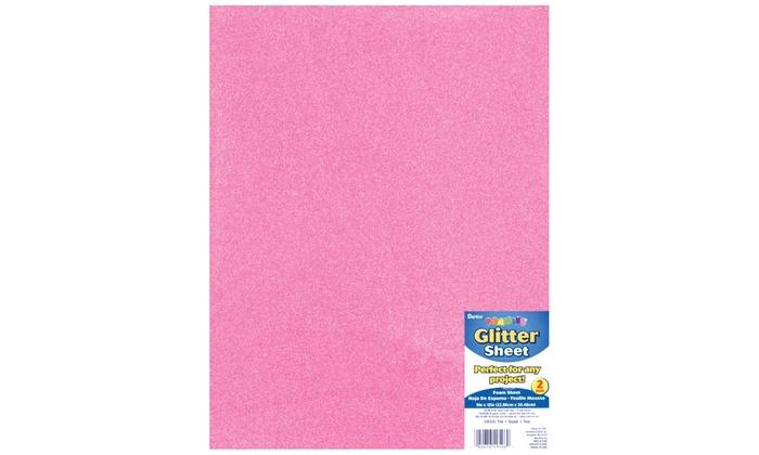 Darice Foamies Glitter Foam Sheet Pink 2mm thick 9 X 12 inches