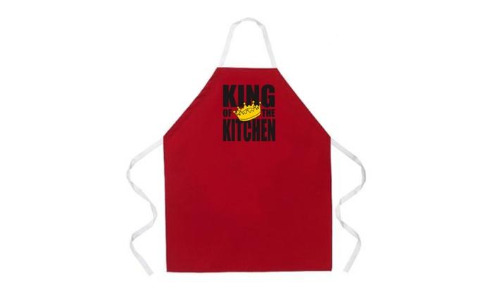 Zay Outlet: La Imprints Attitude Aprons King of the Kitchen