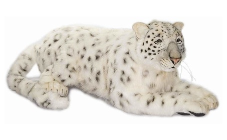 Hansa Toys 4283 Crouching Siberian Mama Snow Leopard Plush Stuffed