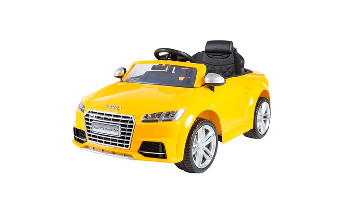 Up To Off On Audi TTS Roadster V Battery Groupon Goods - Audi 6v ride toy cars