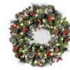 24 Inch Crestwood Spruce Christmas Wreath, 50 Clear Lights