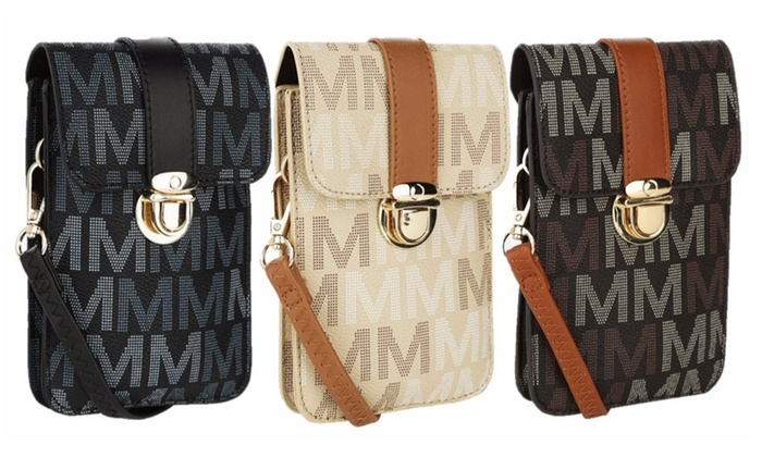 88b823deb MKF Collection Lulu M Signature Double Compartment Phone Wallet