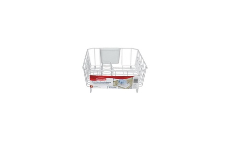 Rubbermaid AntiMicrobial In-Sink Dish Drainer With Silverware Cup 275fc8a9-06d8-45f2-926d-8ef1db6828e1