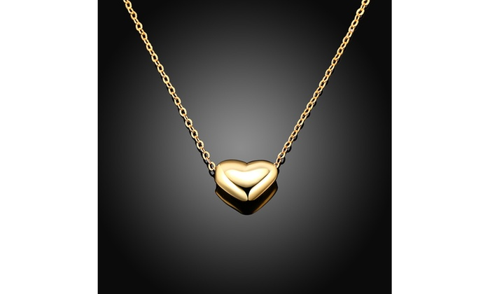 Solid italian heart pendant set in 14k gold groupon solid italian heart pendant set in 14k gold aloadofball Images