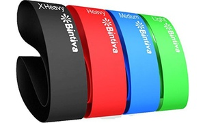 Bintiva Resistance Loop Bands for Workouts (4-Pack)