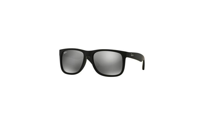 7b262c0df2 Ray Ban Justin Sunglasses - Black Gray Mirror ...