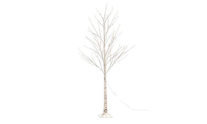 led birch tree 6ft 96l led christmas decorations lighted tree decor - Birch Christmas Decorations