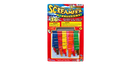 Toy Balloon 6ct Screamerz Asst Lcr 09bba11a-565a-4cbe-b296-88a21cf2642a