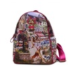 French Woman Print Multi-pocket Backpack