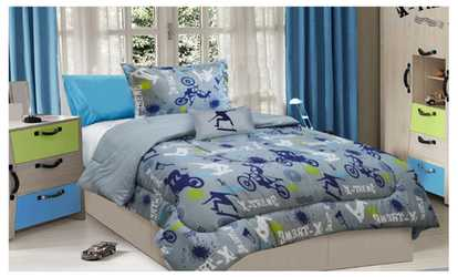 image placeholder image for all american collection new childrens xtreme sports bedding set