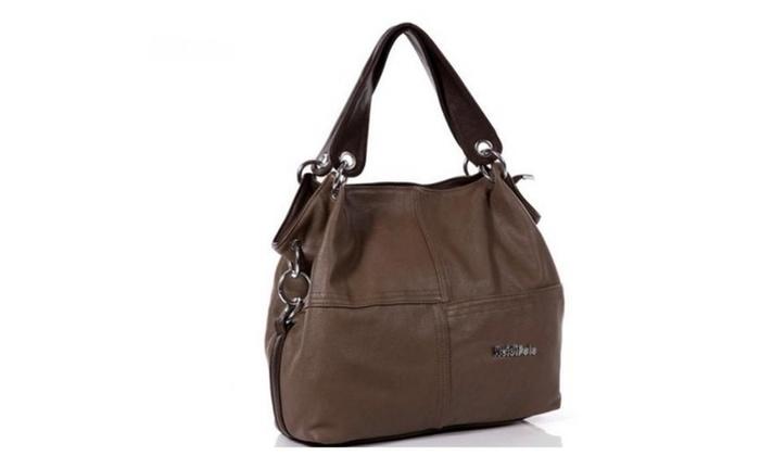 Leather restore ancient inclined big bag women cowhide handbag