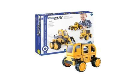 Guidecraft Kids Play PowerClix Construction Vehicle Set e57847ec-5957-4321-8809-18287ca48149