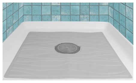 "Evelots Non Slip Bath & Shower Mat W/ Powerful Suction Cups,22"" X 22 6d15b193-2f60-4ea3-8d08-3ccc5410fbe6"