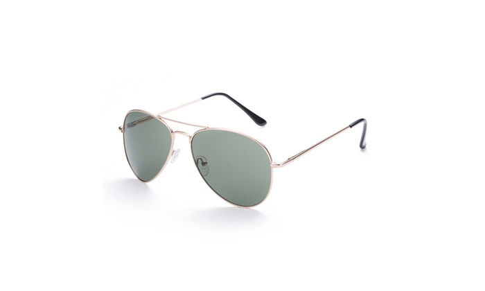 Thin Metal Round Aviator Sunglasses