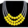 African Triple Layer Beads Necklace for Women