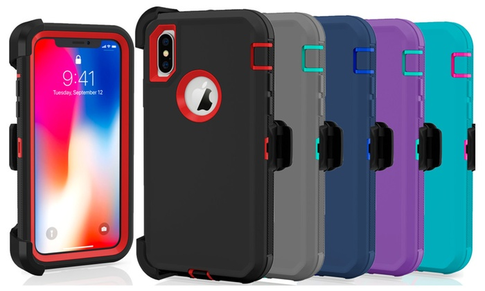 more photos b199c 366c8 iPhone 8 / 8 Plus X XS MAX XR Case Defender Cover (Fits Otterbox ...