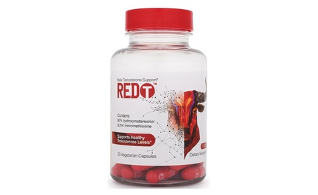 Redt Male Testosterone Booster Support Supplement (30 Capsules)
