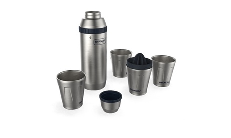 Stanley 30oz Happy Hour Shaker and Four 7oz. Cups 02d41d08-8c3d-43c9-a953-6e3fd8f89c13