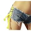 Women Slim Sexy Low Waist Burr Cut Off Mini Jean Short