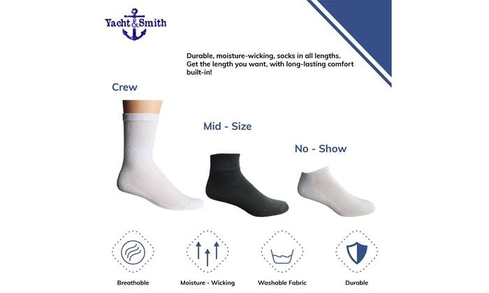 Wholesale Bulk Mens Crew Socks Cotton Big and Tall Plus Size Socks 13-16
