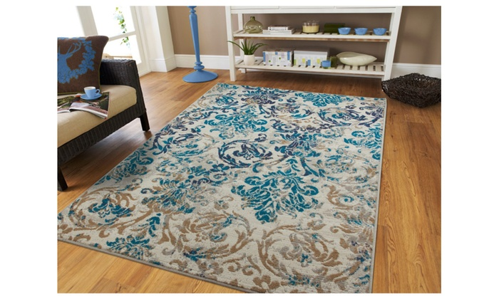 Floral Vine Area Rug 8x10 Modern Distressed Rugs 8x11