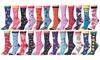 Frenchic Women's Statement Cotton Blend Crew Socks (12-Pairs)
