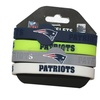 New England Patriots NFL Silicone Rubber Wrist Band Bracelet Set of 4