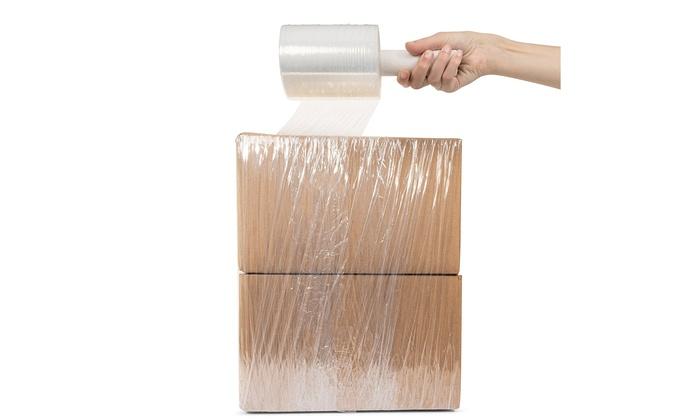 "Plastic Film Pallet Wrap with Handle 5/"" X 1000 Feet 80 Gauge Clear Shrink Wrap"